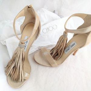JIMMY CHOO Viola nude shoes/sandals